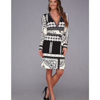 Hale Bob Stasi L/S Wrap Dress