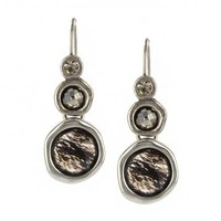 GRAY GRADUATED GEM EARRINGS