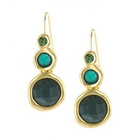 GREEN GRADUATED GEM EARRINGS