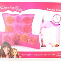NWT American Girl Pom Pom Pillows Craft Kit