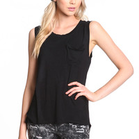 SLOUCHY POCKET TANK TOP