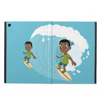 Surfing boy cartoon iPad case