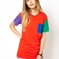American Apparel Color Block Tee