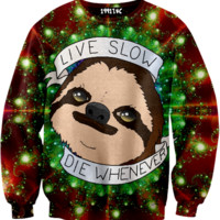 ☮♡ Live Slow Die Whenever Sloth Sweater ✞☆