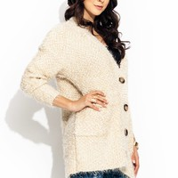 Like-Big-Buttons-Fuzzy-Cardigan IVORY - GoJane.com
