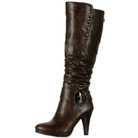 Reneeze SANDRA-2 Women's Knee-high Plateform Riding Trend Boots - BROWN