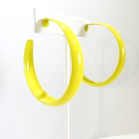 Neon Hoop Earrings