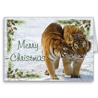 Tiger Christmas Card