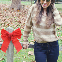Run Rudolph Run Sweater: Ivory/Tan