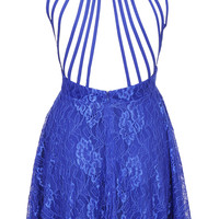 **OPEN BACK LACE SKATER DRESS BY WYLDR