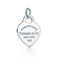 Tiffany & Co. - Return to Tiffany™ heart tag charm in sterling silver, small.