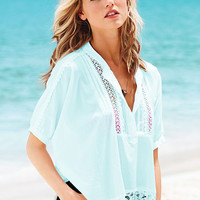 Crochet-accent Blouse - Victoria's Secret