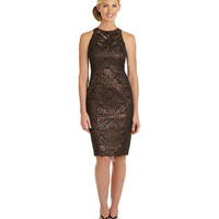 Maggy London Brocade Embellished-Neckline Dress | Dillards.com