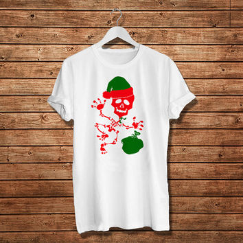 Skeleton Gift Christmas Woman T-Shirt, Women T-Shirt (Available Various Color)