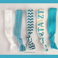 ZETA TAU ALPHA Hair Ties set Yoga Bands Greek Sorority Welcome Stocking Gift