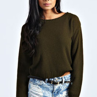 Rowie Moss Stitch Lightweight Jumper