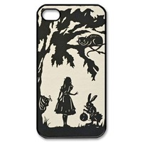 Alice in Wonderland iPhone 4/4s Case Black and White iPhone 4/4s Case