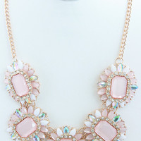 Pale Pink & Ivory Iridescent Necklace Set