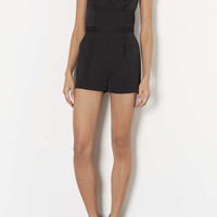 Petite Satin Strappy Playsuit