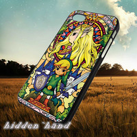 The Legend of Zelda Stained Glass,Case,Cell Phone,iPhone 5/5S/5C,iPhone 4/4S,Samsung Galaxy S3,Samsung Galaxy S4,Rubber,13/07/1/Ar