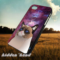 Nebula Grumpy Cat Cartoon,Case,Cell Phone,iPhone 5/5S/5C,iPhone 4/4S,Samsung Galaxy S3,Samsung Galaxy S4,Rubber,13/07/12/Ar