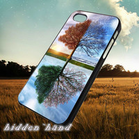 Tree of Seasons,Case,Cell Phone,iPhone 5/5S/5C,iPhone 4/4S,Samsung Galaxy S3,Samsung Galaxy S4,Rubber,18/07/3/Du