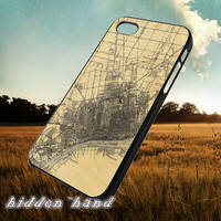 Vintage map Detroit,Accessories,Case,Cell Phone,iPhone 5/5S/5C,iPhone 4/4S,Samsung Galaxy S3,Samsung Galaxy S4,Rubber,18/07/4/Du