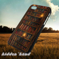 vintage Library Bookshelf,Accessories,Case,Cell Phone,iPhone 5/5S/5C,iPhone 4/4S,Samsung Galaxy S3,Samsung Galaxy S4,Rubber,18/07/8/Du