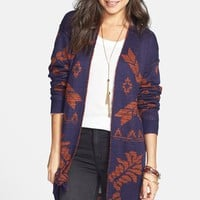 Rubbish® Pattern Long Cardigan (Juniors) | Nordstrom