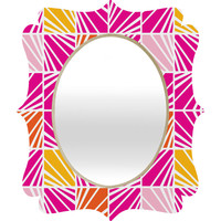 Heather Dutton Facets Bright Quatrefoil Mirror