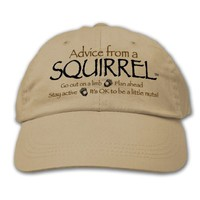 Advice From A Squirrel ~ Khaki Hat