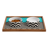 """Follow The Sky"" Pet Bowl and Tray"