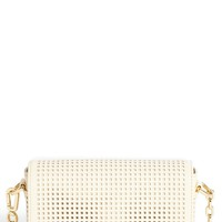 Tory Burch 'Robinson - Mini' Perforated Leather Crossbody Bag