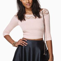 Nasty Gal Sugarplum Crop Sweater