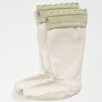 Hunter 'Moss Cable'Cuff Welly Socks