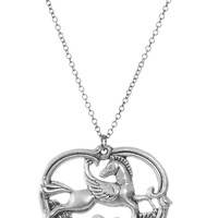 The Pegasus Muse Pendant Necklace