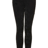 Lurex Flocked Treggings