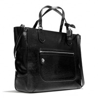POPPY SMALL BLAIRE TOTE IN TEXTURED PATENT LEATHER