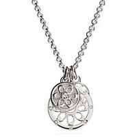 STERLING SIGNATURE C DISC NECKLACE