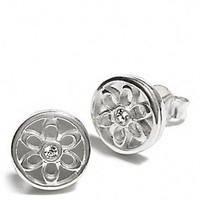 STERLING SIGNATURE C STUD EARRINGS