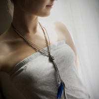 NOEMIAH - Skinny Love - Feather and Chain Necklace