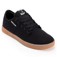 Supra TK Stacks Black & Gum Canvas Skate Shoe