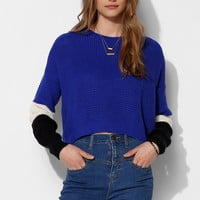 Sparkle & Fade Colorblock Cropped Sweater  - Urban Outfitters