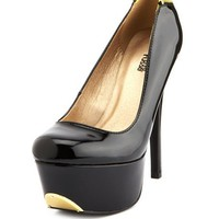 ZIP-BACK 2-TONE PATENT PUMP