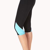 Reflective-Trimmed Performance Capris