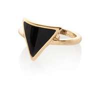 GOLD TONE TRIANGLE MIDI RING