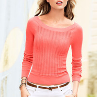 Long-sleeve Bateau Sweater - Feather Sweaters - Victoria's Secret