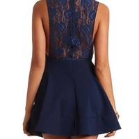 LACE BACK SKATER DRESS