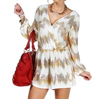 Ivory/Gold Sequin Romper
