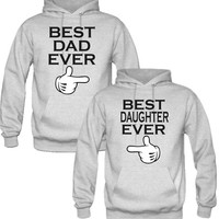 best dad and daughter ever Hoodies - TeeeShop